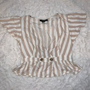 Forever 21 crop button blouse